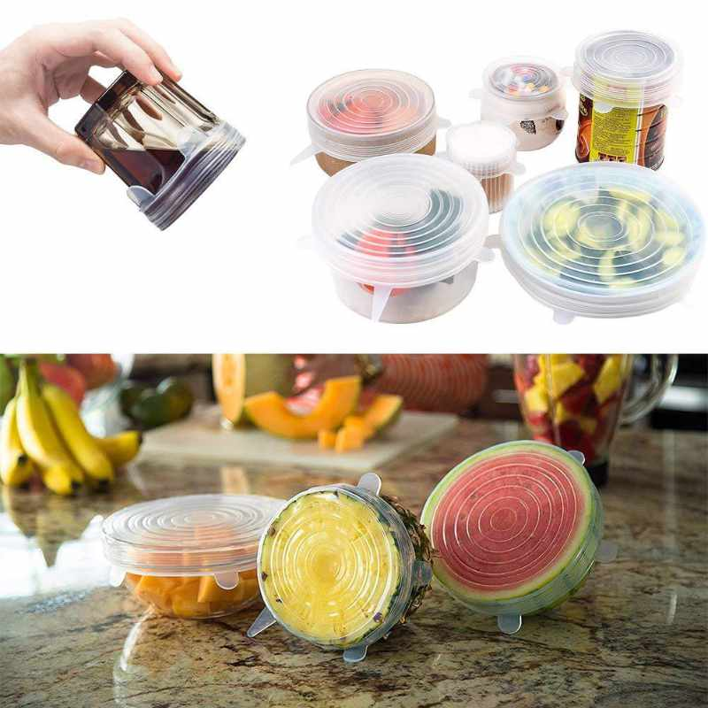 Reusable silicone stretch lids4
